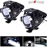 AllExtreme U5 CREE LED Driving Fog Light Fog in Aluminum Body for All Motorcycles, ATV and Bikes (15W, Pack of 2)