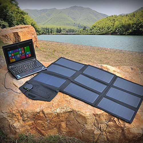 Solar Charger, ALLPOWERS 60W Foldable SunPower Solar Panel (Dual 5V USB with iSolar Technology+18V DC Output) for Laptop, ipad, Smartphone, iphone, Samsung, and 12V Car, Boat, RV Battery by ALLPOWERS (Image #9)