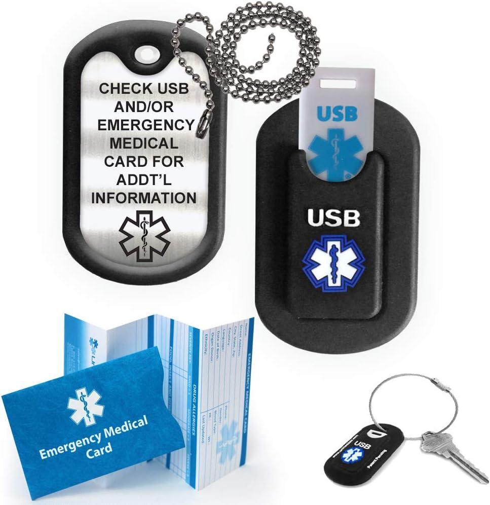 Medical Alert INFORMER LITE USB Dog Tag - Black