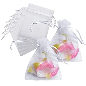Amazon.com: summerdaisy 100pcs Organza Bolsas de regalo Boda ...