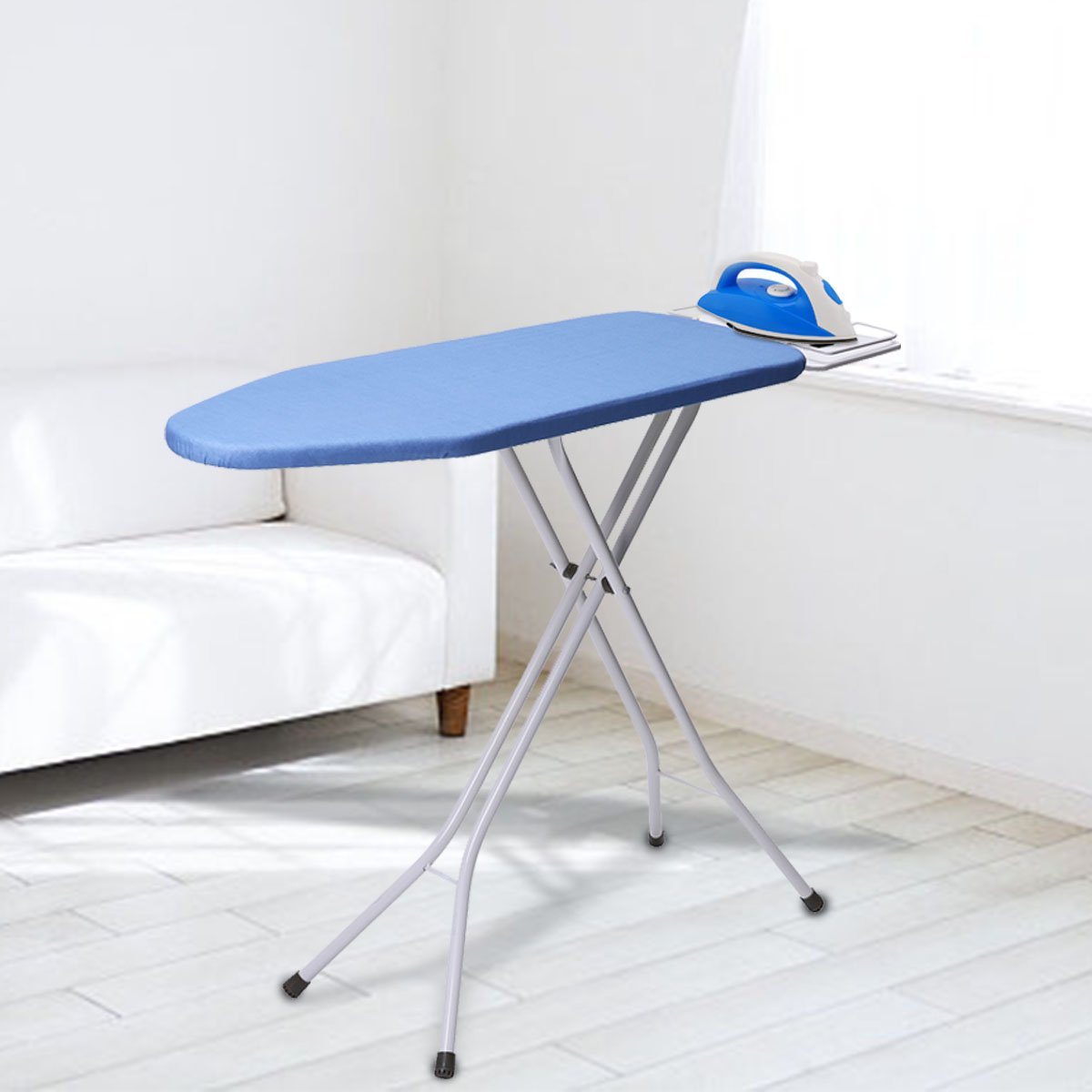 KINGSO 30''x28'' Opensize 4-Leg Tabletop Ironing Board with Iron Rest Simple Design