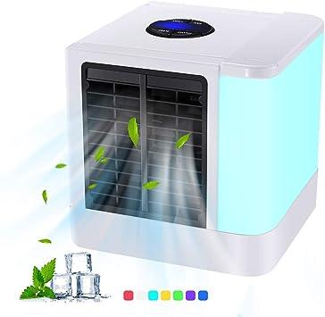 ACZZ Refrigerador Mini Aire Acondicionado, Mini Refrigerador de ...