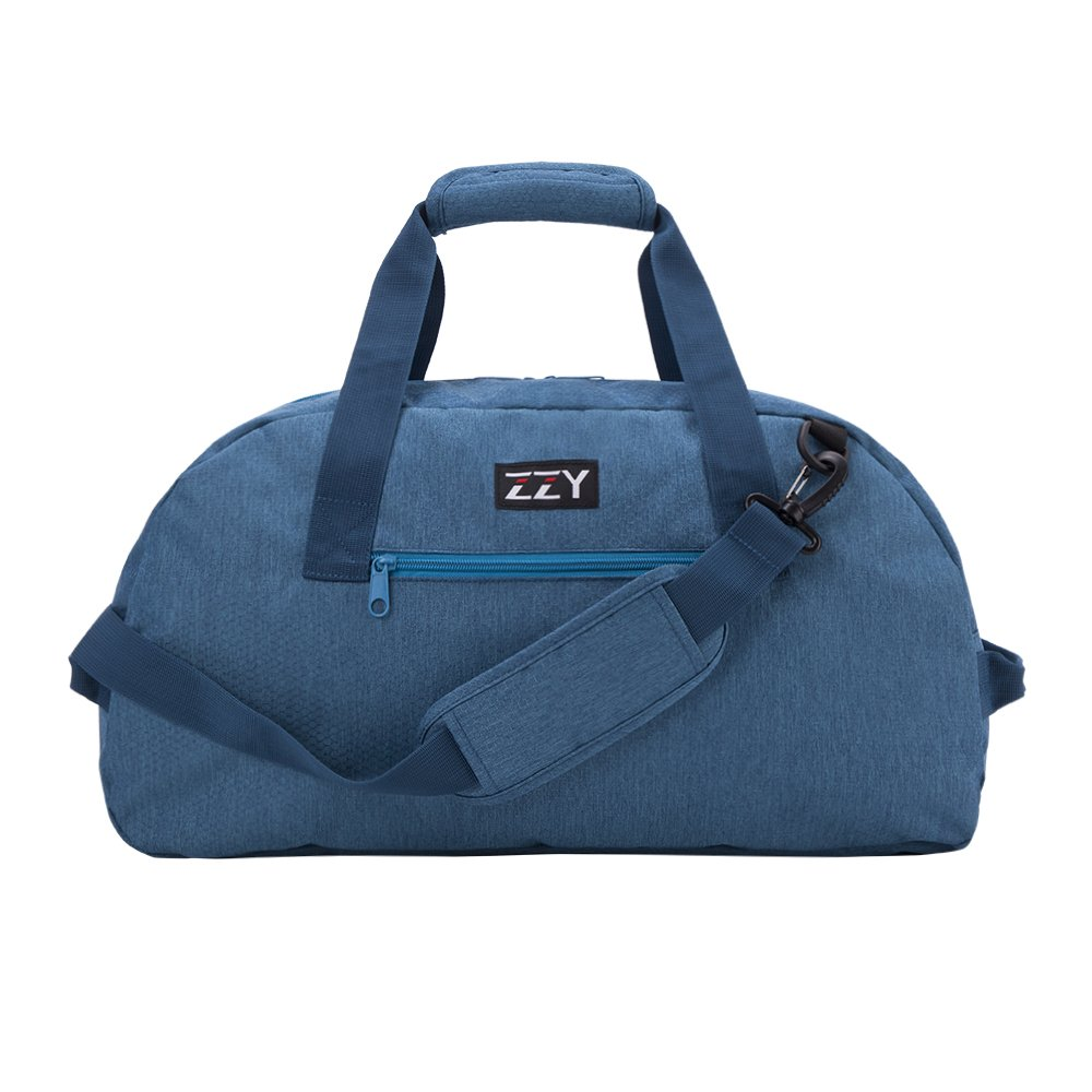 Foldable Travel Tote Duffle Bag Lightweight with Water Resistant (Blue-35L)