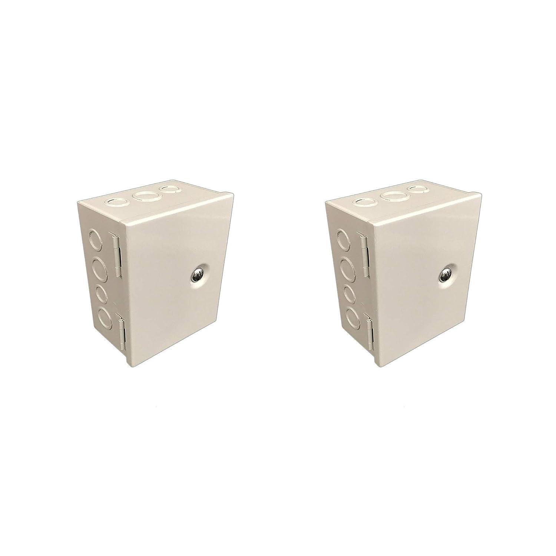 BUD Industries JBH-4945-KO Steel NEMA 1 Sheet Metal Box With Knockout And Hinged