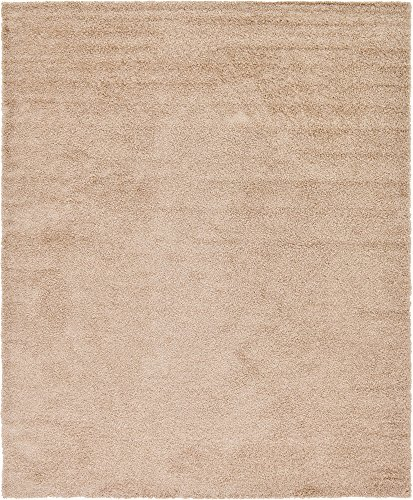 A2Z Rug Cozy Shaggy Collection 12x15-Feet Solid Area Rug - Taupe - 12x15 Area Rug