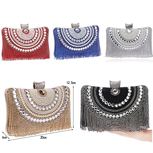 Evening Beaded Bags Diamonds Evening Bag Wedding Clutch Metal Ym1074black Bags Purse For wqxfgppY