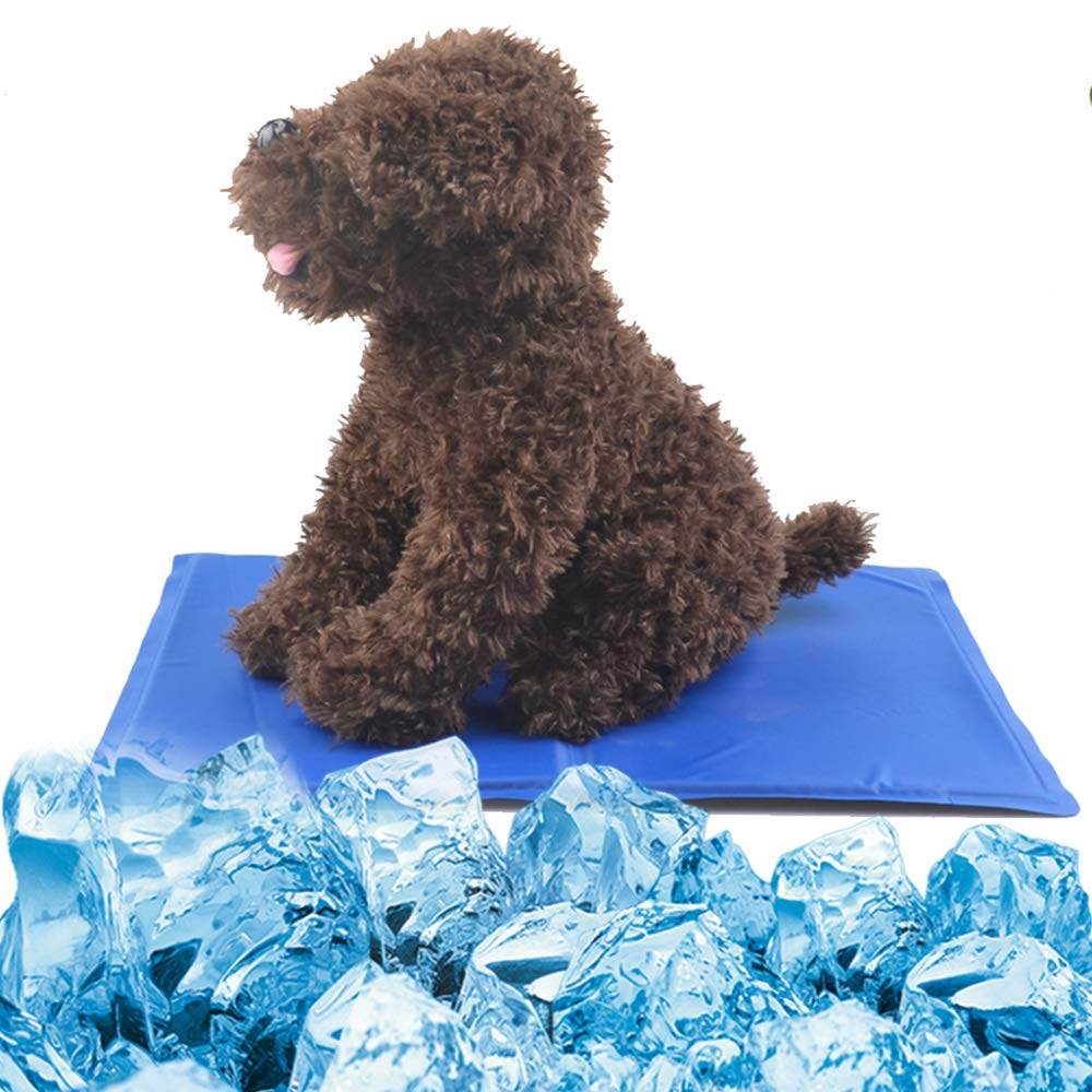 bluee 9580cm bluee 9580cm Pet Ice Pad Gel Dog Cooling Down Summer Pet Seat Summer Cooling Pet Supplies,bluee-95  80cm