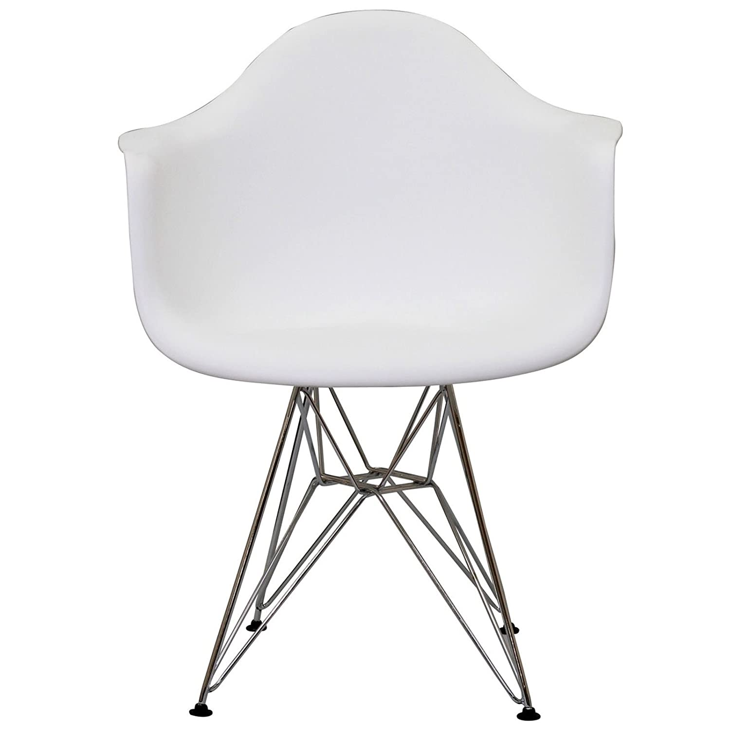 Amazon LexMod Paris Wire Armchair in White Chairs