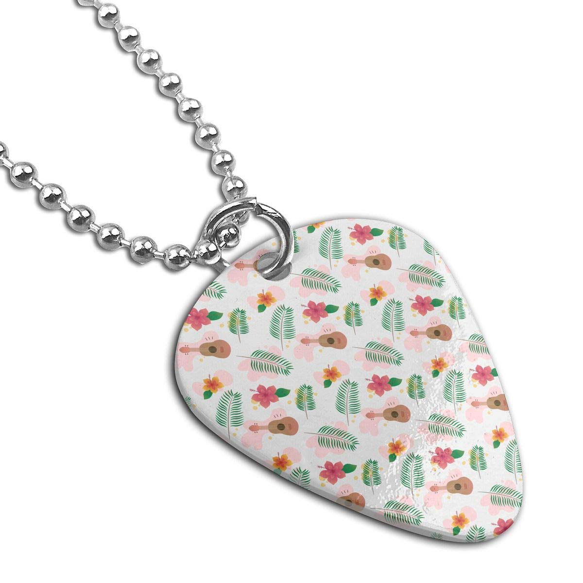 Sheery Palm And Guitar Dog Tag Pendant With Guitar Bassiform