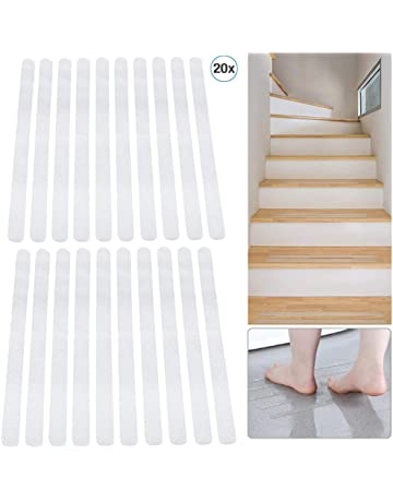 non slip tape stickers ideal for families self adhesive sticking pads pack of 17 transparent adults and children/'s safety valneo Anti Slip Stairs Sticking Strips