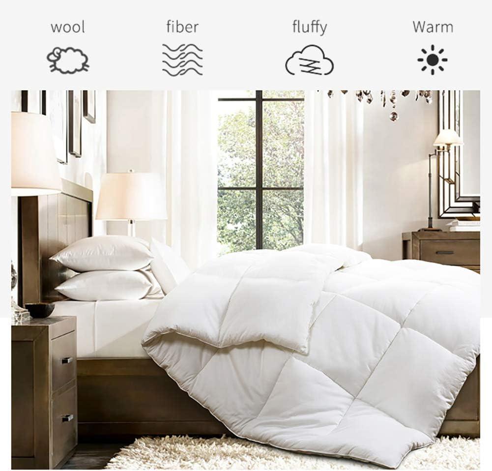 Emolli Bed Mattress Topper, Hypoallergenic White Down Alternative Bed Mattress Pad – Plush, Overfilled, 1.18 Height, Queen Size