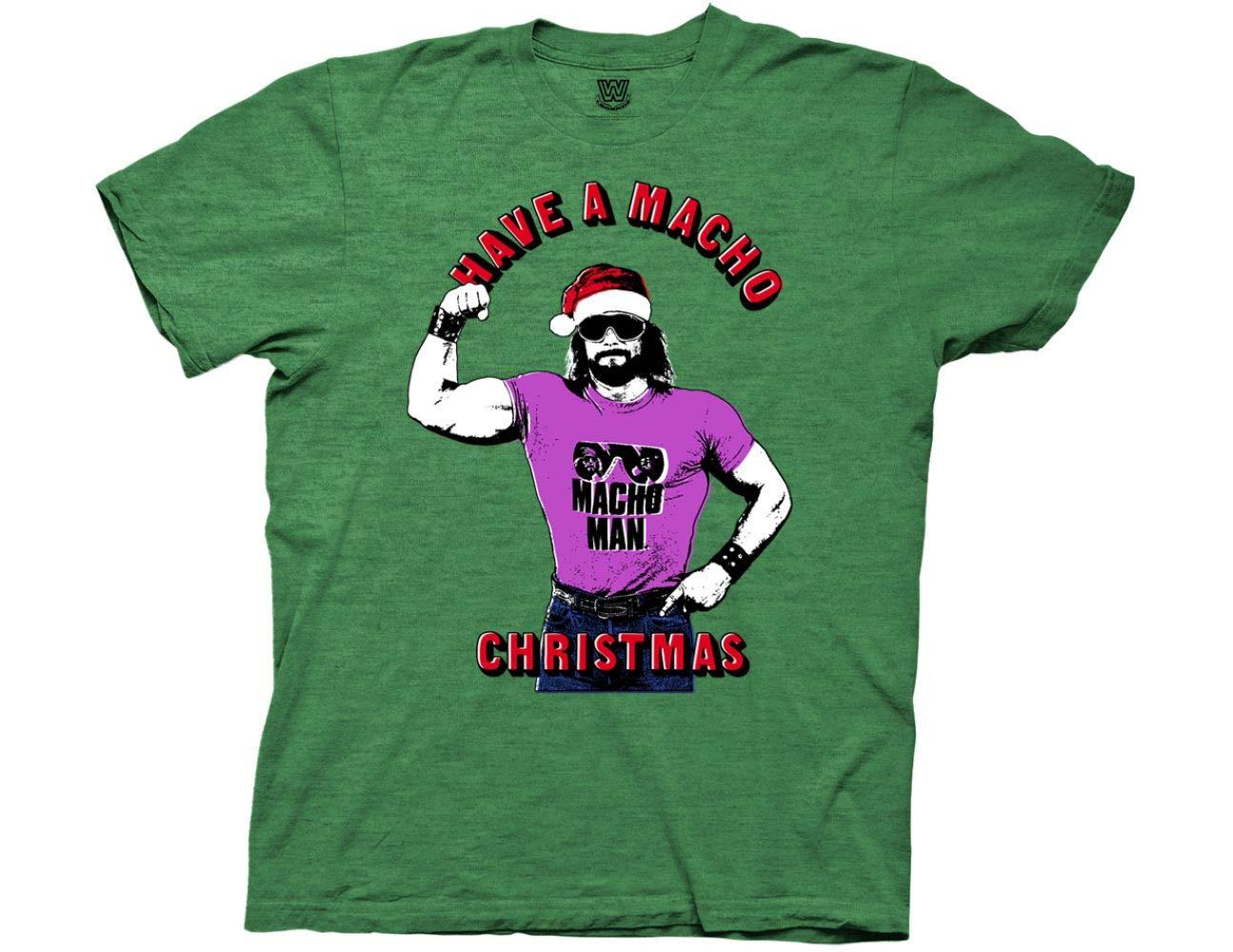 Wwe Have A Macho Christmas Adult Tshirt