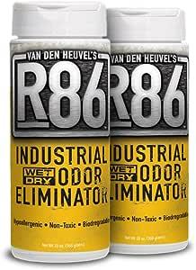 Van Den Heuvels R86 Industrial Odor Eliminator, All Purpose Odor Neutralizer, Ideal for Skunk and Pet Odor, Non-Toxic and Hypoallergenic, 2 Pack