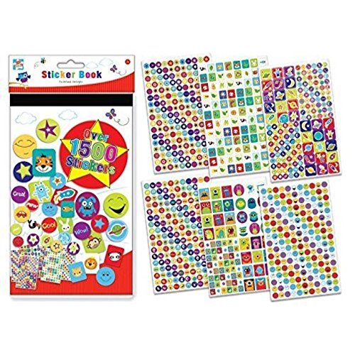 Price comparison product image Children's Kids Fun Art And Craft Sticker Book 1500 Stickers Travel Holidays Gift
