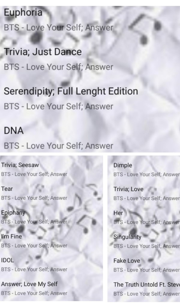Amazon Com Bts Music Albums Collection Complete Appstore For