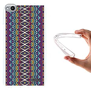 WoowCase - Funda Gel Flexible { Vodafone Smart Ultra 6 } Patrón de Tela Abstracto Carcasa Case Silicona TPU Suave