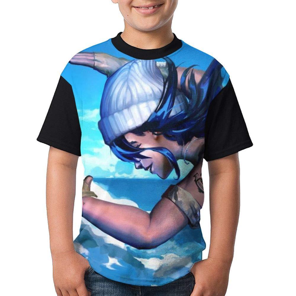 Fall Land Child Boy's Girl Short Sleeve Crew Neck Funny Top T Shirt L