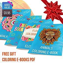 48 Colored Pencils Pens for Drawing Sketching Adult Coloring Book Watercolor Bonus Sharpener and Brush Best Art Color Pens with Bonus Coloring Ebooks Premium Quality Anti-Stress Great Gift