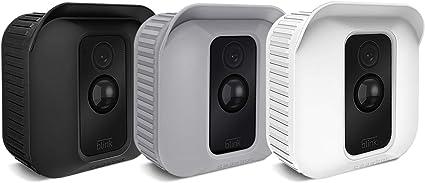 Fintie Silikon Schutzhülle Für Blink Xt2 Xt Kamera 3er Pack Premium Silikon Uv Beständige Schutzhülle Für Blink Xt2 Xt Home Security Indoor Outdoor Kamera Schwarz Braun Weiß Elektronik