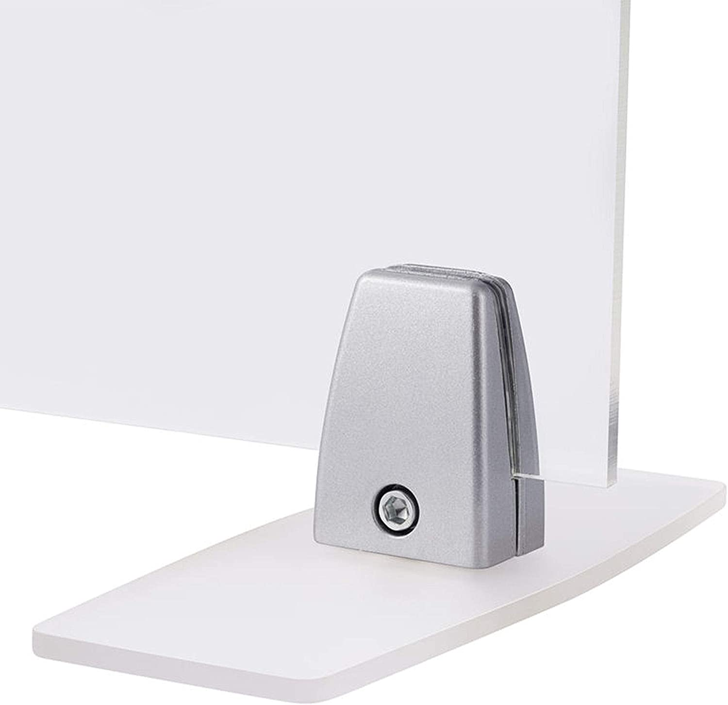 Countertop /& Reception Sneeze Guard Support Clamp Bracket with Freestanding Base for Plexiglass or Acrylic Shield Desktop