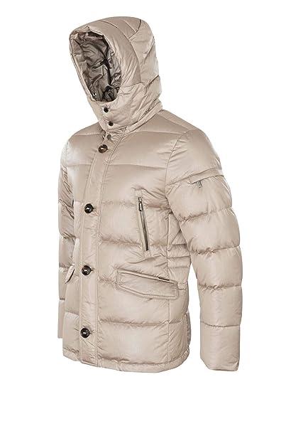 MOORER Chaqueta Hombre Beige Polyester Casual 52: Amazon.es: Ropa y accesorios