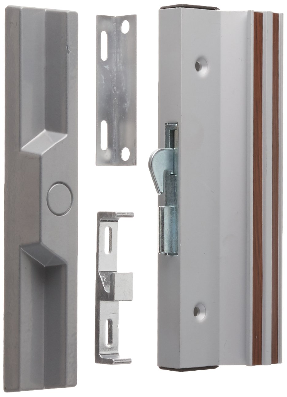 Slide-Co 142854 Patio Door Handle Set, 4-15/16 In., Extruded Aluminum, White, Anti-Lift, Pack of 1