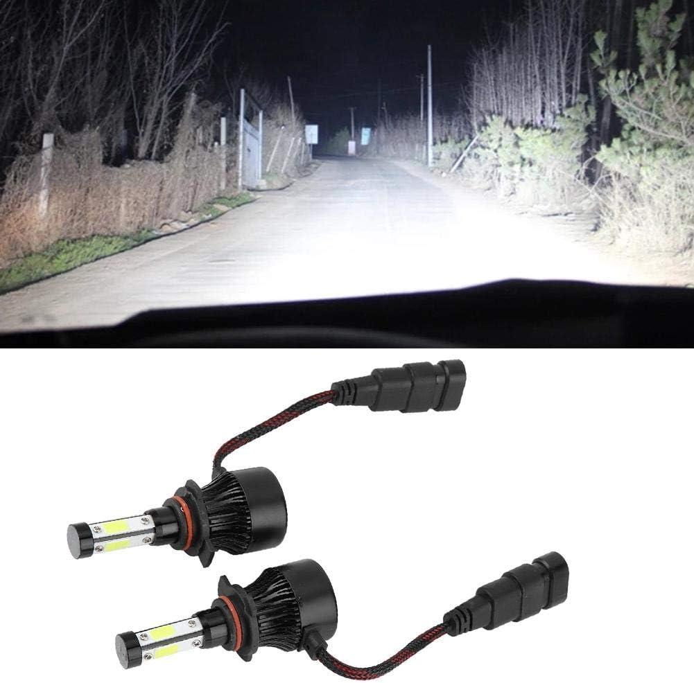 H13 LED Headlight 1 Pair Black X7-COB Car Bulb for H4 H7 H11 H13 5202 9004 9005