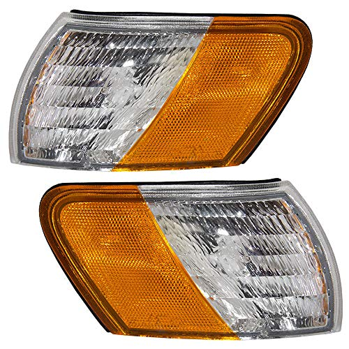 Driver and Passenger Park Signal Corner Marker Lights Lamps Lenses Replacement for Ford F2DZ15A201F F2DZ15A201E