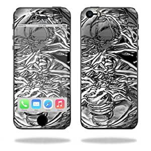 Mightyskins Protective Vinyl Skin Decal Cover for Apple iPhone 5/5s/SE wrap sticker skins Chrome Water