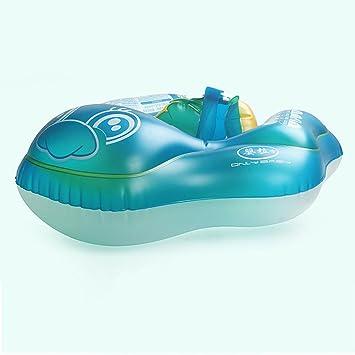 Anillo de natación para bebé, diseño de globo doble, seguro y cómodo, collar de bebé pequeño ...