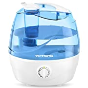 VicTsing Cool Mist Humidifier, Ultrasonic Humidifiers for Bedroom Baby, Premium Humidifying Unit with Whisper-Quiet Operation, Auto Shut-Off, Anti-Slip Handle, 12-24 Hours Working Time