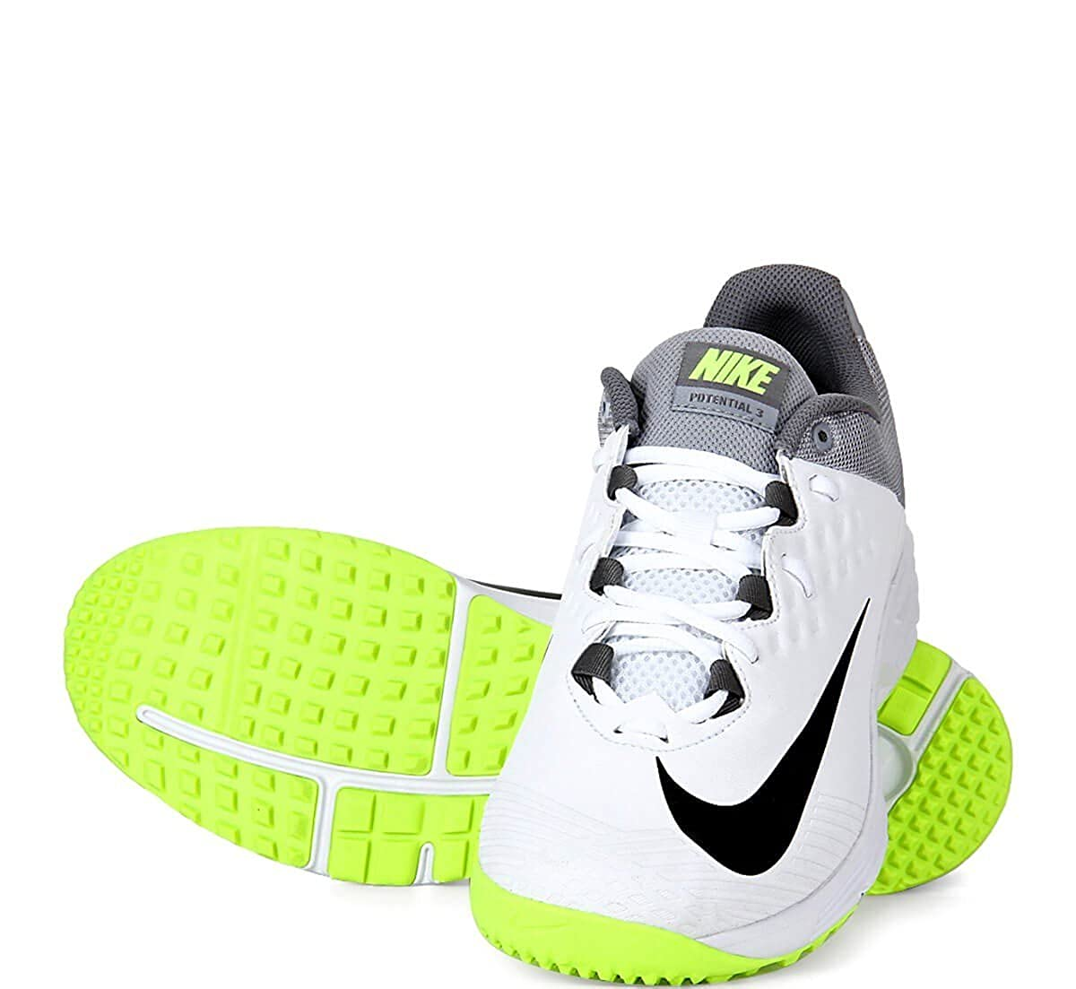 new concept 6dae2 f74b4 Nike Potential 3 Men s White Synthetic Cricket Shoes - 9 UK  Buy Online at  Low Prices in India - Amazon.in