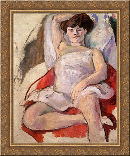 (Dancer at the Moulin Rouge 20x24 Gold Ornate Wood Framed Canvas Art by Pascin, Jules)