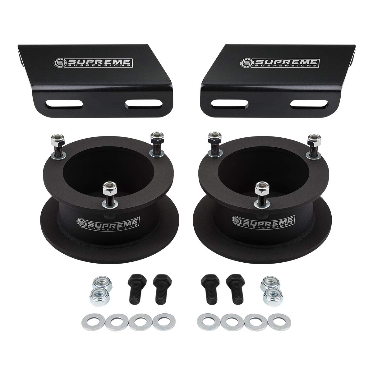 Supreme Suspensions Tig Welded 2WD 4x2 Pro Front Leveling Kit for 1994-2018 Dodge Ram 1500 2.5 High-Strength Steel Spring Spacers Lift Kit