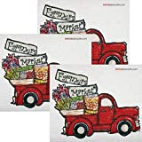 Farmers Market Truck Set of 3 Each Swedish Dishcloths | ECO Friendly Absorbent Cleaning Cloth | Reusable Cleaning Wipes
