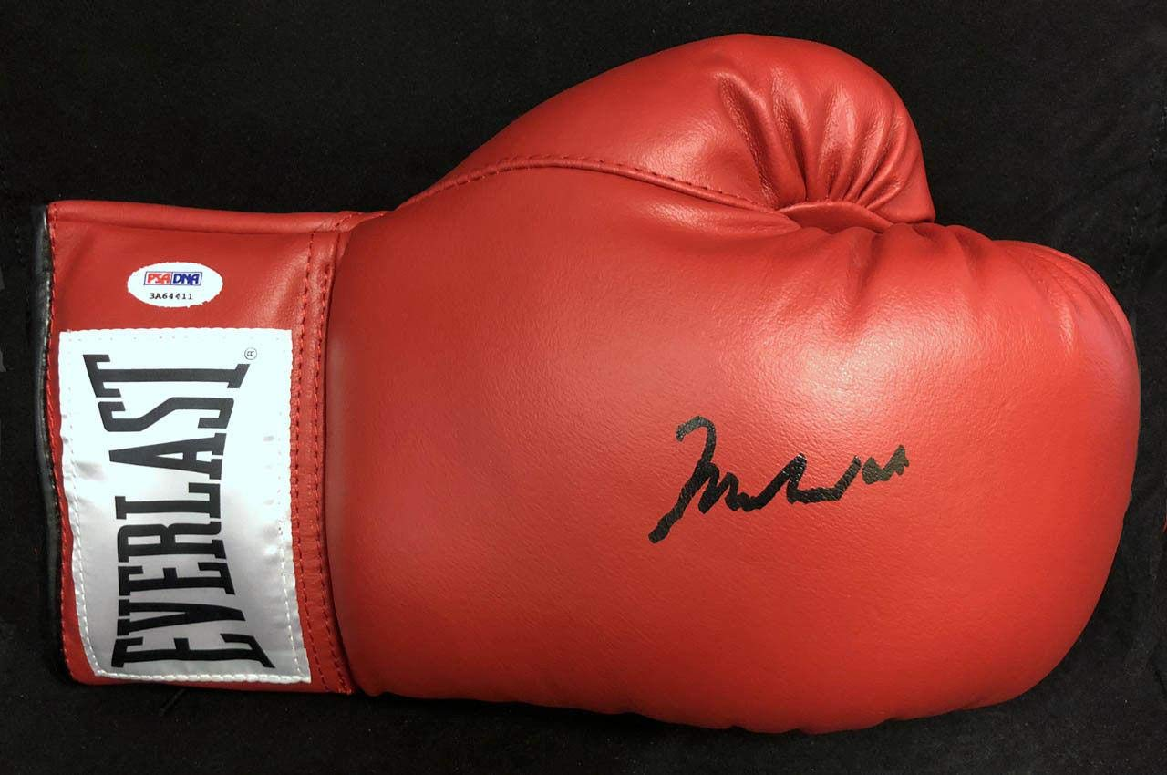 Muhammad Ali SIGNED Everlast Boxing Glove 10 GRADE W/FULL LETTER MINT PSA/DNA Certified Autographed Boxing Gloves