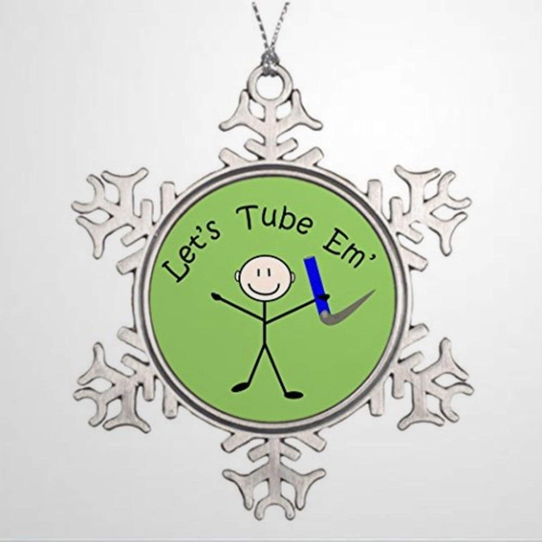 BYRON HOYLE Custom Christmas Ornament Respiratory Therapy Stick Person Lets Tube Em Outd Christmas Snowflake Ornaments Xmas Decor Wedding Ornament Holiday Present