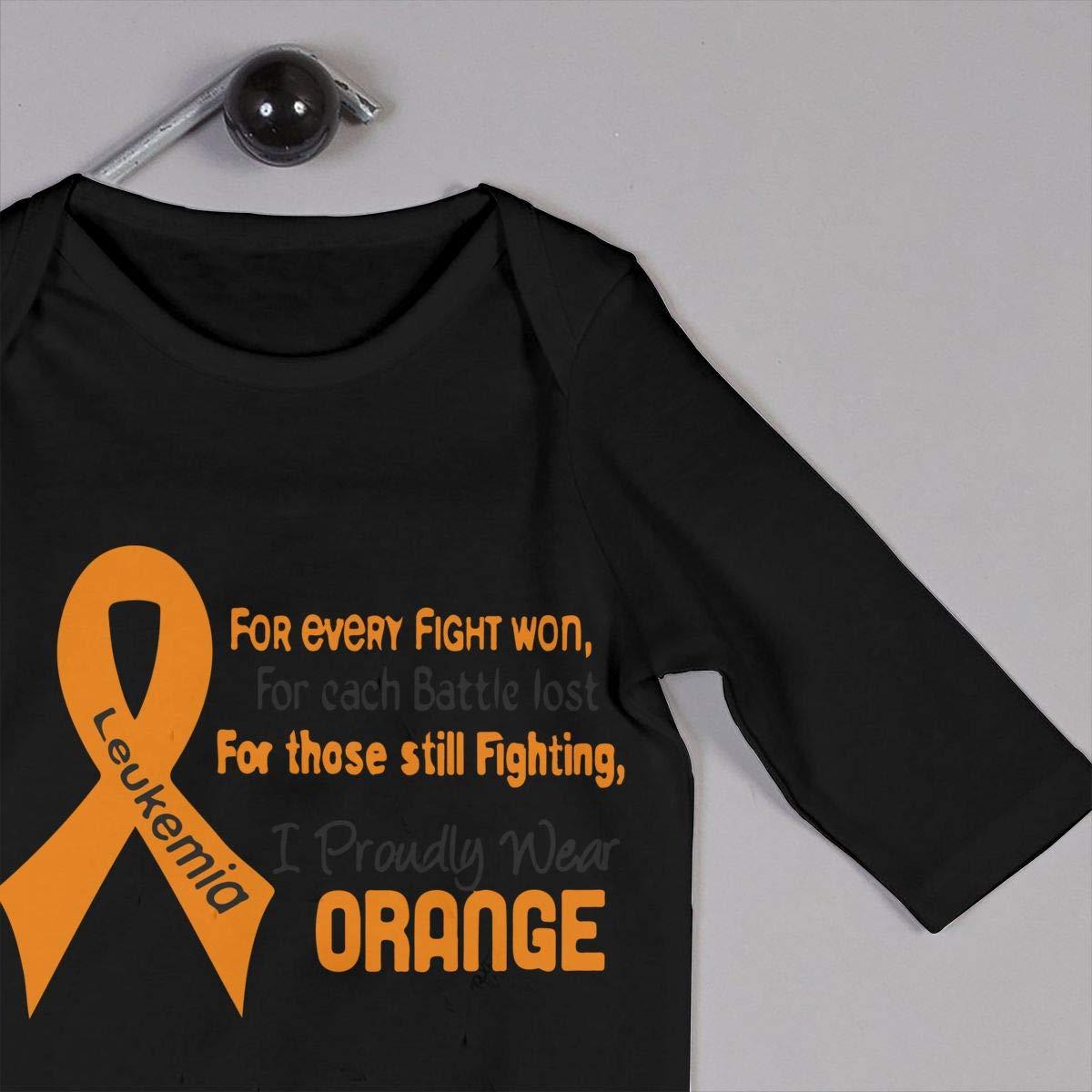 U99oi-9 Long Sleeve Cotton Bodysuit for Unisex Baby Fashion Leukemia Awareness Jumpsuit