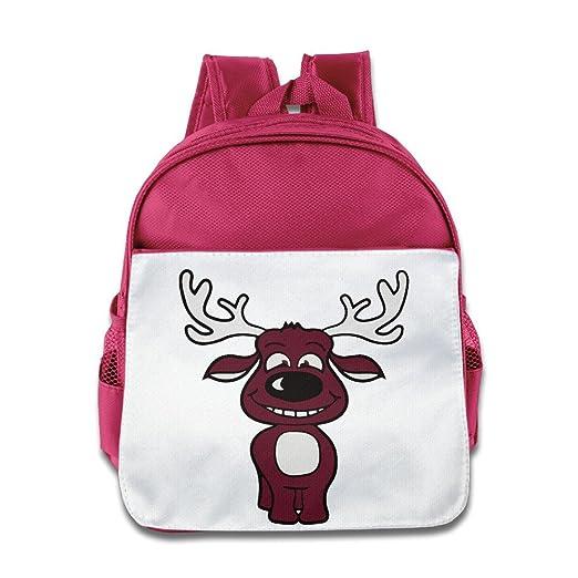 Amazon.com  Cute Cartoon Animal Moose Backpack Children School Bag ... 180e812de8