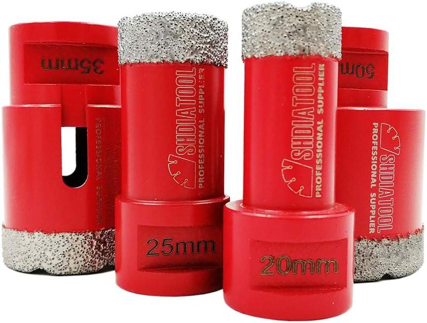 SHDIATOOOL Lot de 2 forets diamant/és pour carrelage en porcelaine et granit 15 mm