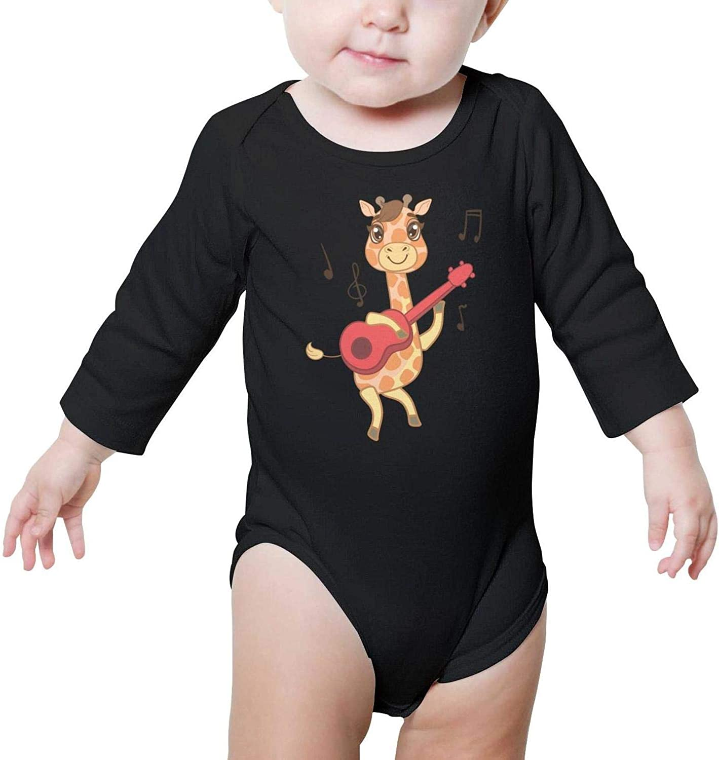 I Love Giraffes1 Baby Outfits Cute Comfortable Baby Long Sleeve Onesies