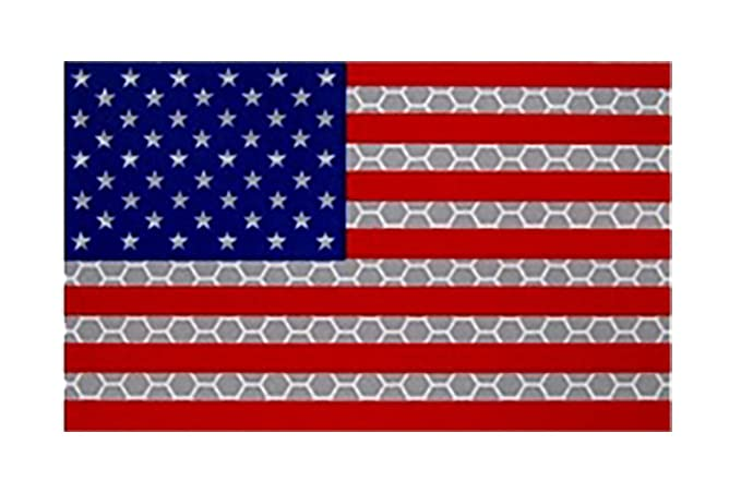 93e3c93e561 Image Unavailable. Image not available for. Color  Full Color Us Ir Infrared  Flag Uniform Patch USA Military