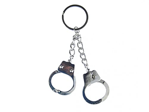 miniblings Esposas Esposas para Pulgares llaveros policía en Miniatura + Anillo