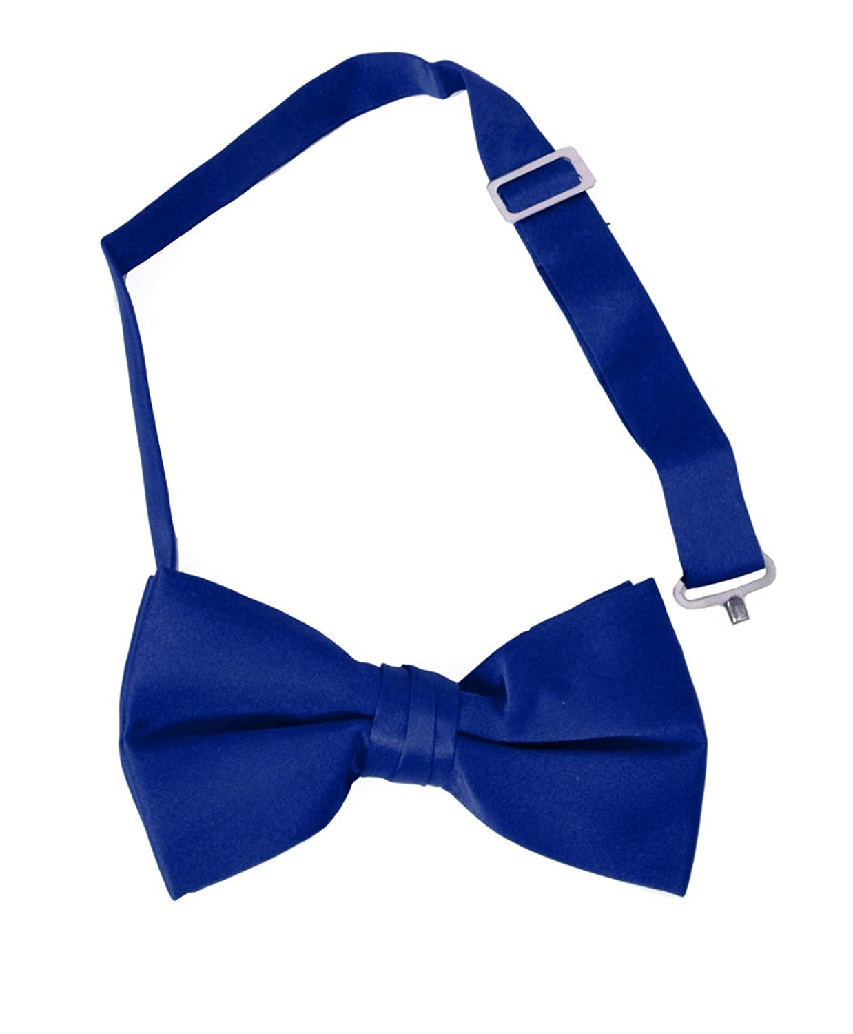 discount Formal Solid Banded Pre-Tied Boys Bow Ties-Royal Blue free shipping