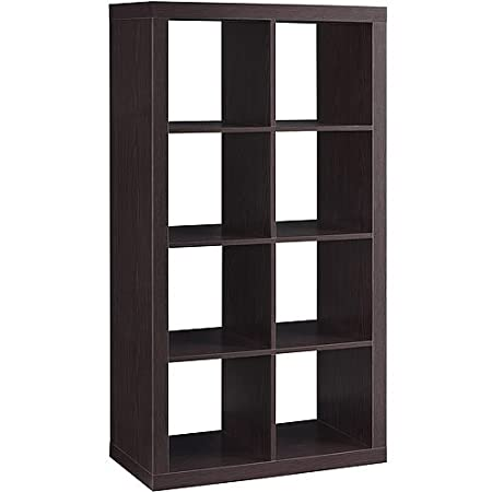 Better Homes and Gardens 8-cube Organizer Creates Multiple Storage Solutions Horizontal or Vertical Display Espresso
