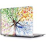 iCasso Macbook Air 11 inch Case Rubber Coated Soft Touch Hard Shell Protective Cover For Macbook Air 11 Inch Model A1370/A1465 (Four Seasons Tree)