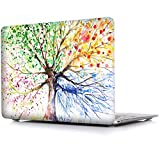 iCasso Macbook Air 13 Inch Case Rubber Coated Glossy Hard Shell Plastic Protective Cover For Apple Laptop Macbook Air 13 Inch Model A1369/A1466- Four Seasons Tree