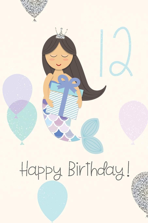 Fabulous Happy Birthday Mermaid Birthday Book For Messages Birthday Personalised Birthday Cards Veneteletsinfo