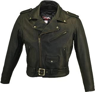 product image for HILLSIDE USA LEATHER INC. Men's Basic Biker Jacket