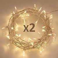 2-Pack 16.4-Feet 40-LED Battery Fairy String Lights